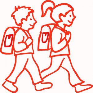Kinderauf Schulweg