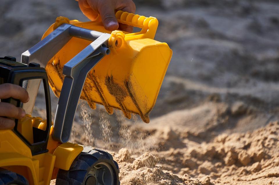 Bagger Sandkasten Spiel